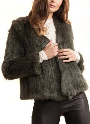 c6b3739f7 Valencia Black Fur Jacket - Katerina